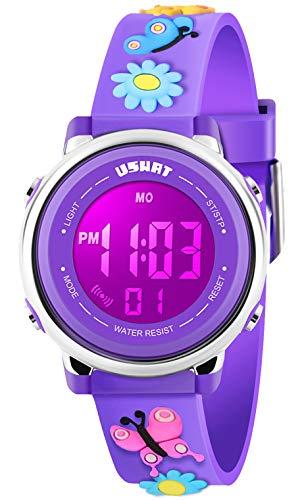 Kids Watch for Boys Girls 3D Cute Cartoon Toddler Watch Digital Silicone Band Alarm Stopwatch Digital Child Wristwatch… 1