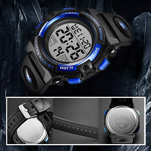 Kids Watches, Boys Digital Outdoors Sport Watch Multifunction Waterproof Digital Watch with LED Light Alarm and Calendar… 5