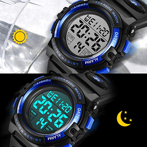 Kids Watches, Boys Digital Outdoors Sport Watch Multifunction Waterproof Digital Watch with LED Light Alarm and Calendar… 7