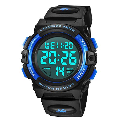 Kids Watches, Boys Digital Outdoors Sport Watch Multifunction Waterproof Digital Watch with LED Light Alarm and Calendar… 1