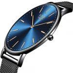 LIGE Mens Watches Black Slim Stainless Steel Watch Fashion Simple Watch for Men Business Dress Analogue Quartz Wrist… 18