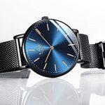 LIGE Mens Watches Black Slim Stainless Steel Watch Fashion Simple Watch for Men Business Dress Analogue Quartz Wrist… 21