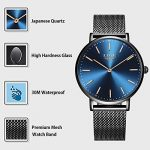 LIGE Mens Watches Black Slim Stainless Steel Watch Fashion Simple Watch for Men Business Dress Analogue Quartz Wrist… 22
