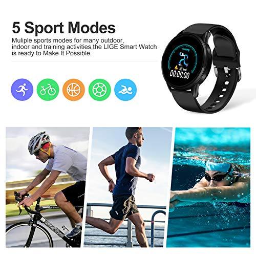 LIGE Smart Watch IP68 Waterproof Sports Fitness Tracker with Blood Pressure/Heart Rate/Sleep Monitor Pedometer Stopwatch… 8