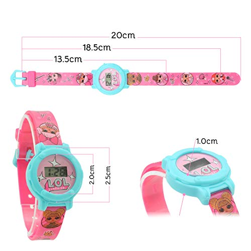 L.O.L.Surprise ! Digital Watch for Girls with Clock Face and Kids Doll Accessories 4