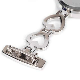 Ladies Heart Steel Nurse Doctor Tunic Brooch Quartz FOB Pocket Medical Watch 10