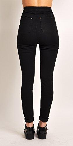Lily Lulu Apparel Disco high Waisted Skinny Jeans Pants Acid wash Denim Skinny Jeans White Skinny Jeans Black Ripped… 3
