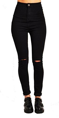 Lily Lulu Apparel Disco high Waisted Skinny Jeans Pants Acid wash Denim Skinny Jeans White Skinny Jeans Black Ripped… 1