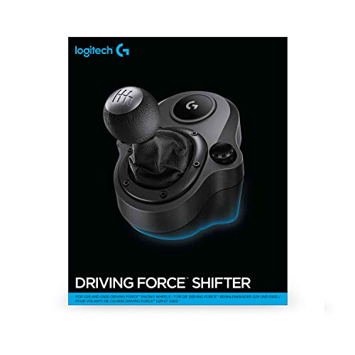Logitech G Driving Force Racing Wheels Shifter for G29, G920 & G923, 6 Speed, Push Down Reverse Gear, Steel and Leather… 5
