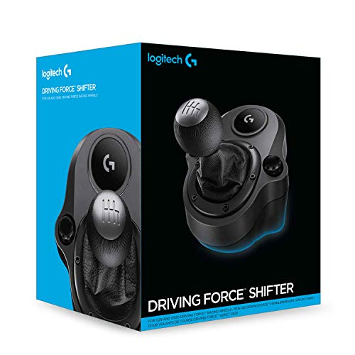 Logitech G Driving Force Racing Wheels Shifter for G29, G920 & G923, 6 Speed, Push Down Reverse Gear, Steel and Leather… 7