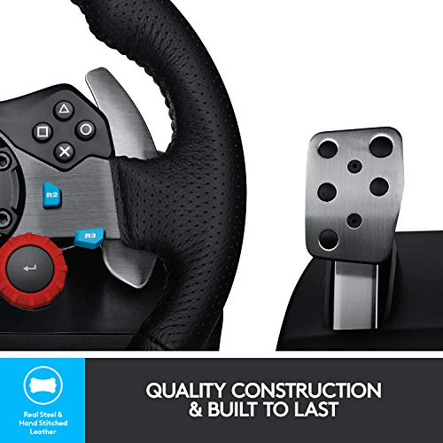Logitech G29 Driving Force Racing Wheel and Floor Pedals, Real Force Feedback, Stainless Steel Paddle Shifters, Leather… 3
