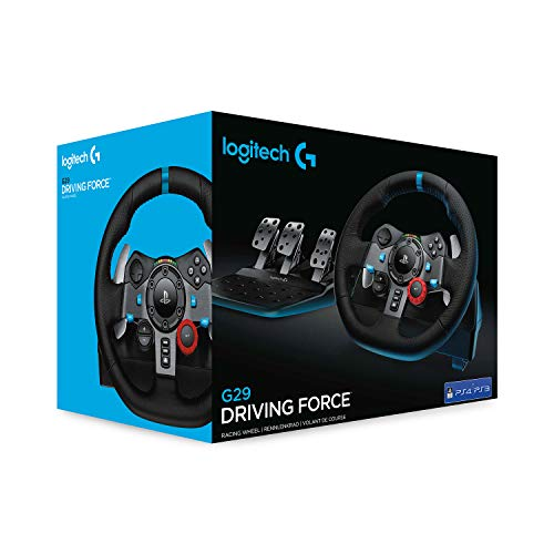 Logitech G29 Driving Force Racing Wheel and Floor Pedals, Real Force Feedback, Stainless Steel Paddle Shifters, Leather… 4