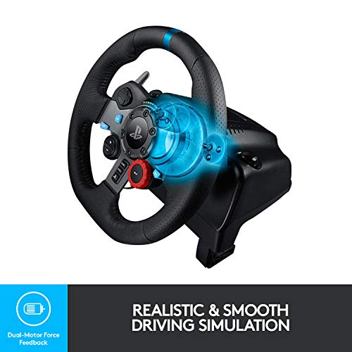 Logitech G29 Driving Force Racing Wheel and Floor Pedals, Real Force Feedback, Stainless Steel Paddle Shifters, Leather… 6