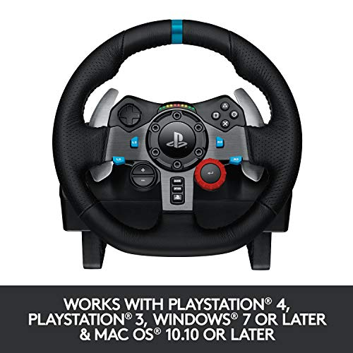 Logitech G29 Driving Force Racing Wheel and Floor Pedals, Real Force Feedback, Stainless Steel Paddle Shifters, Leather… 7