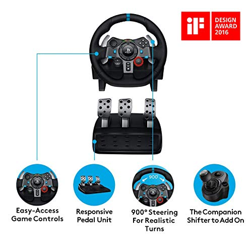 Logitech G29 Driving Force Racing Wheel and Floor Pedals, Real Force Feedback, Stainless Steel Paddle Shifters, Leather… 8