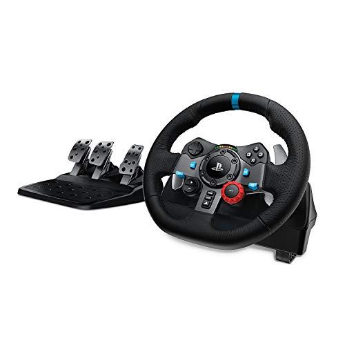 Logitech G29 Driving Force Racing Wheel and Floor Pedals, Real Force Feedback, Stainless Steel Paddle Shifters, Leather… 1