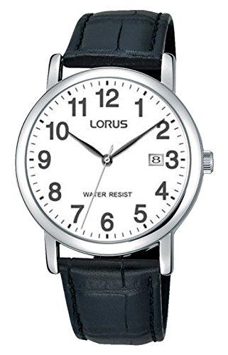 Lorus Unisex-Adult Analogue Classic Quartz Watch with Leather Strap RG865CX9 1