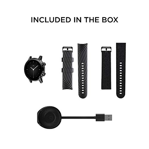 MOTO Motorola 360 3rd Gen Smartwatch - Stainless Steel Case With 20mm Bands, All-day Battery, & WearOs Black, One Size… 7