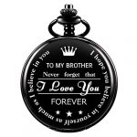 ManChDa Personalized Engraved Pocket Watch to Brother, Vintage Pocket Watches with Chain for Men,Anniversary & Birthday… 17