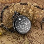 ManChDa Personalized Engraved Pocket Watch to Brother, Vintage Pocket Watches with Chain for Men,Anniversary & Birthday… 22