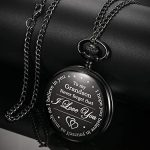 Memory Gift to My Grandson Pocket Watch, I Love You to Grandson Gift from Grandpa Grandma 18