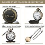 Mens Pocket Watch, Vintage Quartz Pocket Watches with Chain for Men, Pendant Pocket Watch for The Greatest Dad… 18