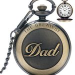 Mens Pocket Watch, Vintage Quartz Pocket Watches with Chain for Men, Pendant Pocket Watch for The Greatest Dad… 17