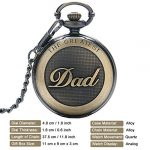 Mens Pocket Watch, Vintage Quartz Pocket Watches with Chain for Men, Pendant Pocket Watch for The Greatest Dad… 20