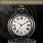 Mens Pocket Watch, Vintage Quartz Pocket Watches with Chain for Men, Pendant Pocket Watch for The Greatest Dad… 23