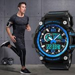 Mens Sports Watch, 5 ATM Waterproof Digital Military Watches with Countdown/Timer/Alarm for Men, Shock Resistant LED… 18
