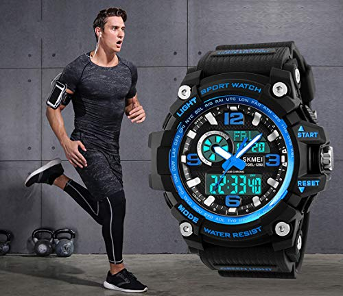 Mens Sports Watch, 5 ATM Waterproof Digital Military Watches with Countdown/Timer/Alarm for Men, Shock Resistant LED… 3