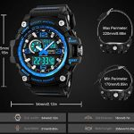 Mens Sports Watch, 5 ATM Waterproof Digital Military Watches with Countdown/Timer/Alarm for Men, Shock Resistant LED… 19