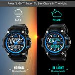 Mens Sports Watch, 5 ATM Waterproof Digital Military Watches with Countdown/Timer/Alarm for Men, Shock Resistant LED… 22