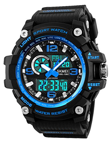 Mens Sports Watch, 5 ATM Waterproof Digital Military Watches with Countdown/Timer/Alarm for Men, Shock Resistant LED… 1