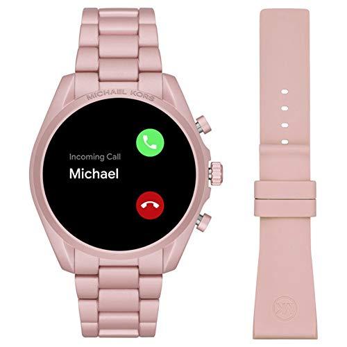 Michael Kors Touchscreen Smartwatch Gen 5 Bradshaw 2 Blush-Tone Aluminum Pink for Woman MKT5098 4
