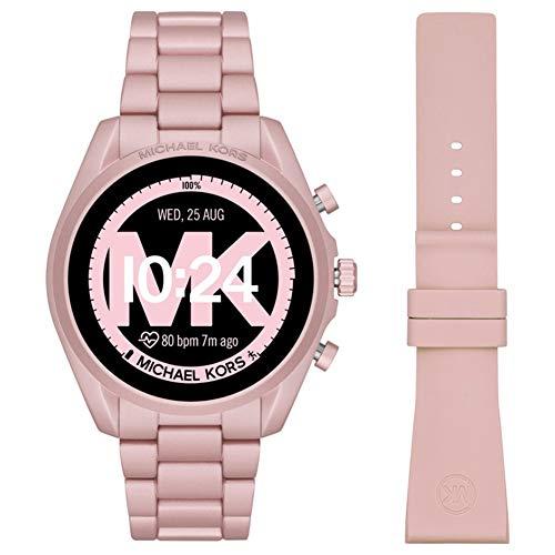 Michael Kors Touchscreen Smartwatch Gen 5 Bradshaw 2 Blush-Tone Aluminum Pink for Woman MKT5098 6