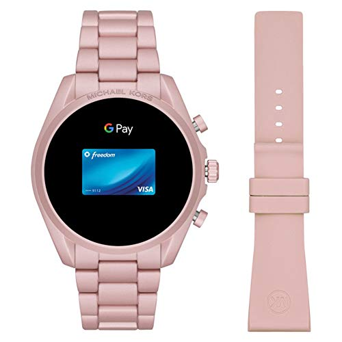 Michael Kors Touchscreen Smartwatch Gen 5 Bradshaw 2 Blush-Tone Aluminum Pink for Woman MKT5098 7