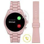 Michael Kors Touchscreen Smartwatch Gen 5 Bradshaw 2 Blush-Tone Aluminum Pink for Woman MKT5098 25