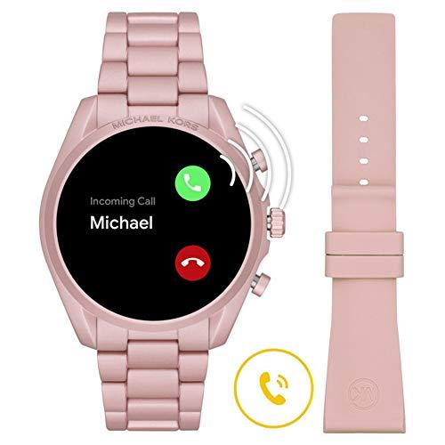 Michael Kors Touchscreen Smartwatch Gen 5 Bradshaw 2 Blush-Tone Aluminum Pink for Woman MKT5098 8