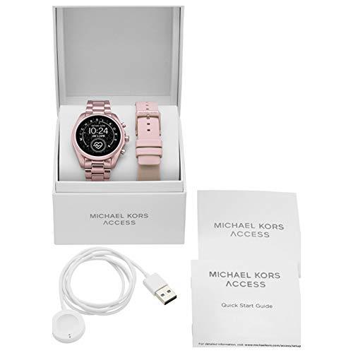 Michael Kors Touchscreen Smartwatch Gen 5 Bradshaw 2 Blush-Tone Aluminum Pink for Woman MKT5098 9