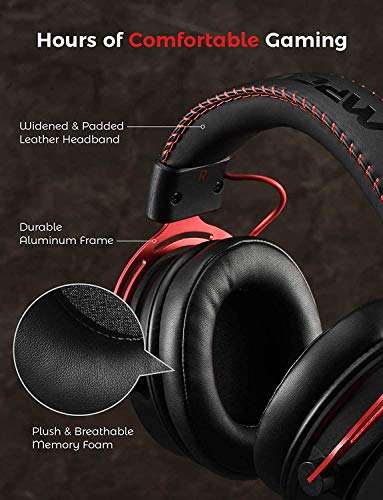 Mpow PS4 Headset Xbox one, Air SE Gaming Headset with mic, Over-Ear Gaming Headphones with 3D Surround Sound, In-Line… 6