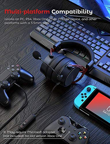 Mpow PS4 Headset Xbox one, Air SE Gaming Headset with mic, Over-Ear Gaming Headphones with 3D Surround Sound, In-Line… 7