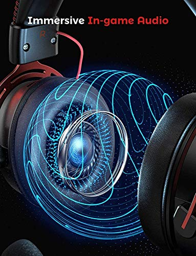 Mpow PS4 Headset Xbox one, Air SE Gaming Headset with mic, Over-Ear Gaming Headphones with 3D Surround Sound, In-Line… 8
