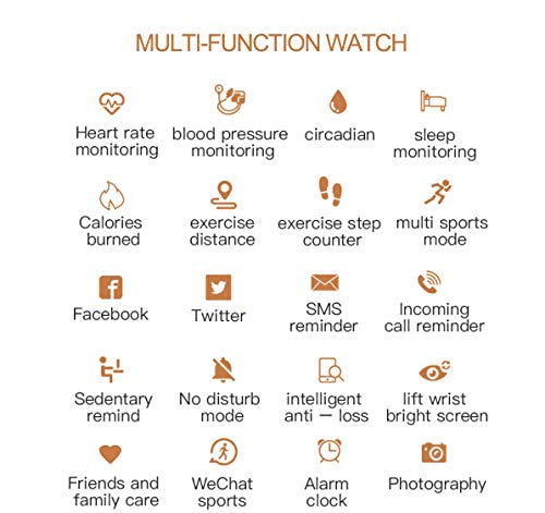 Multi-Perspective Multi-Function Smart Watch for Women Blood Pressure Sleep Heart Rate Physiological Cycle Monitor… 3