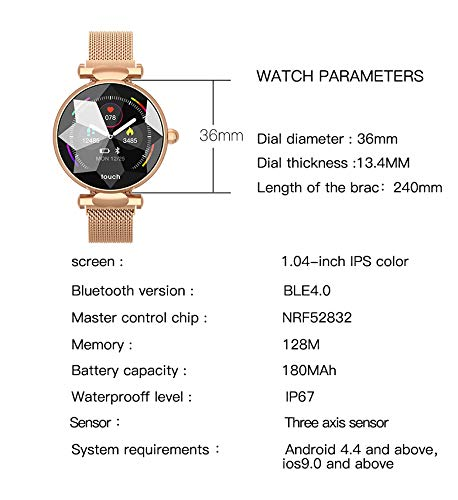 Multi-Perspective Multi-Function Smart Watch for Women Blood Pressure Sleep Heart Rate Physiological Cycle Monitor… 6