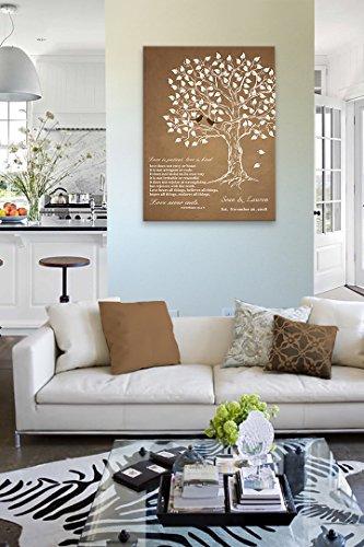 MuralMax Personalized Anniversary Family Tree Artwork - Love is Patient Love Is Kind Bible Verse - Unique Wedding… 5