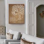 MuralMax Personalized Anniversary Family Tree Artwork - Love is Patient Love Is Kind Bible Verse - Unique Wedding… 19