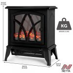 NETTA Electric Fireplace Stove Heater 2000W with Fire Flame Effect, Freestanding Portable Electric Log Wood Burner… 19