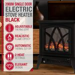 NETTA Electric Fireplace Stove Heater 2000W with Fire Flame Effect, Freestanding Portable Electric Log Wood Burner… 21