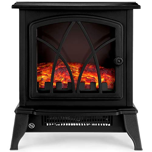 NETTA Electric Fireplace Stove Heater 2000W with Fire Flame Effect, Freestanding Portable Electric Log Wood Burner… 1